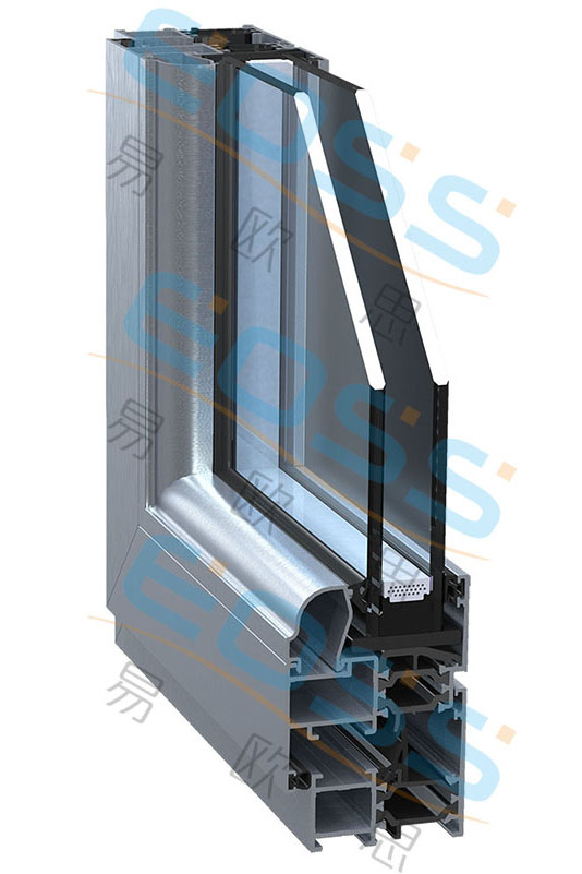 EC52 economical high heat insulation swing series system doors and windows
