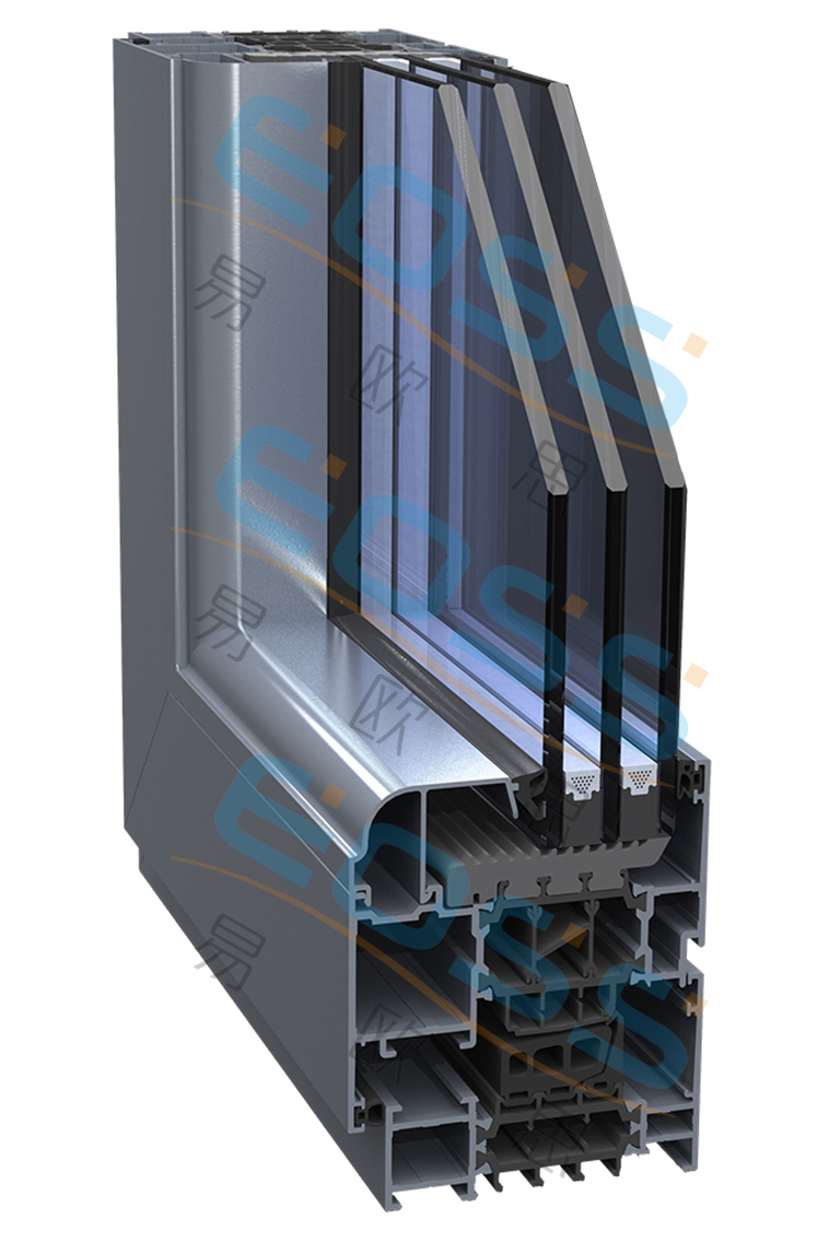 ES78 high heat insulation swing system system doors and windows