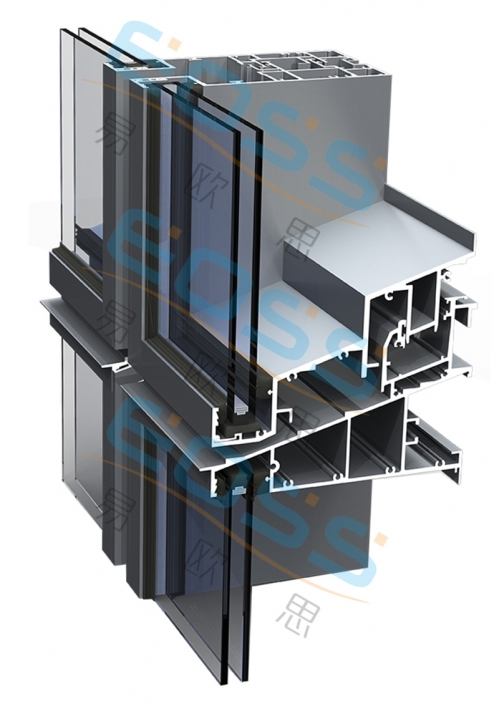EF120——Non-insulated curtain wall series
