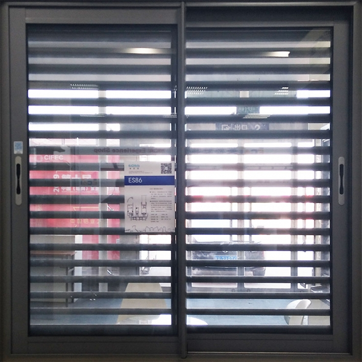 ES86 push-pull window band fixed louver shade
