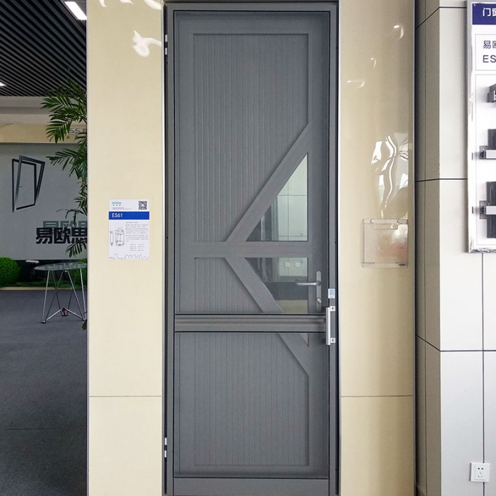 ES61 aluminum plate swing door